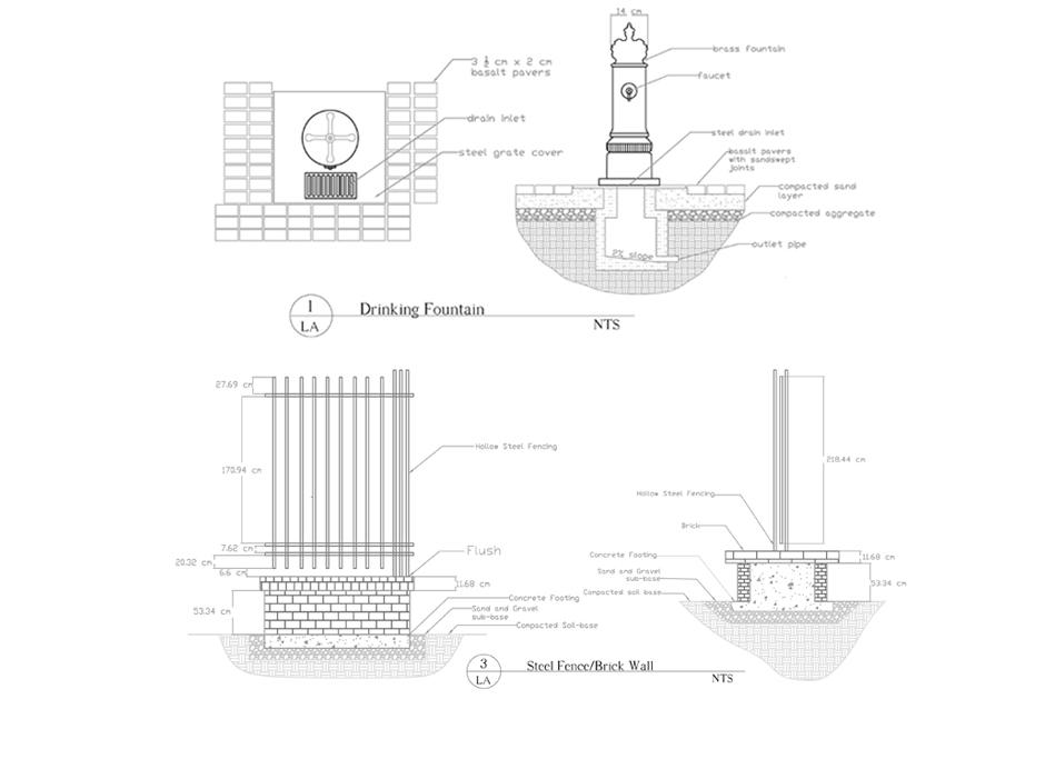 Fountain Detail Drawing Construction Detail Fountain